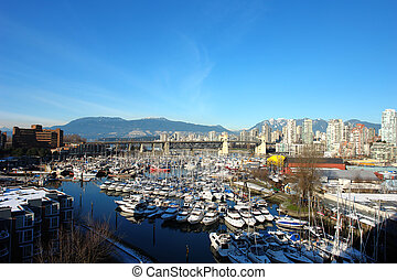 Vancouver City - City of Vancouver on a clear winter day