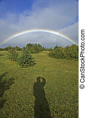 Rainbow, Pleasant Bay, Cape Breton Highlands National Park,...