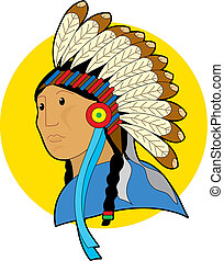 Indian Chief - Indian chief with a headdress