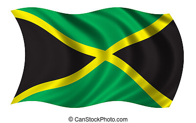 Flag of Jamaica - CLIPPING PATH INCLUDED