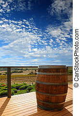 Vineyard View - View from the landing of a winery at Mclaren...