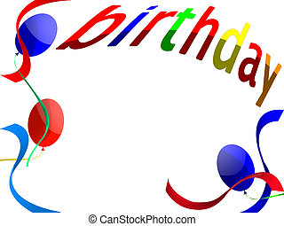 birthday - Background for a congratulation happy birthday...