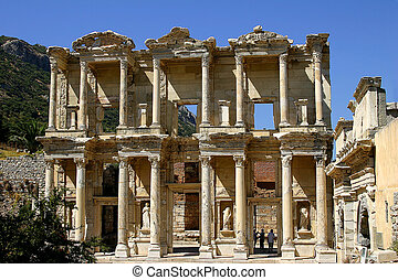 The antique library in Efes city, also known as Celsius\\\'s...