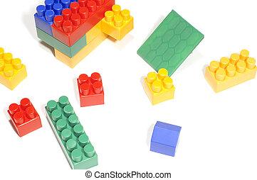 meccano - series object on white: meccano for child