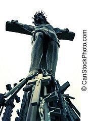 cristiano, crucifijo, cruz