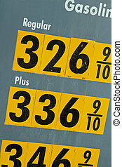 High Price of Gasoline - The sign of the time - high...