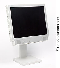 Flat monitor with blank screen