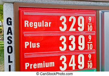 alto, precio, gasolina
