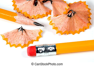 Sharpened Pencil - A sharpened pencil and the wooden...