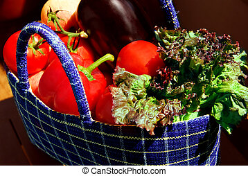 Vegetables - Fresh vegetables and fruits in a basket
