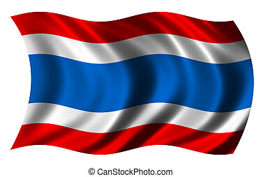 Thailand flag - flag of Thailand waving in the wind