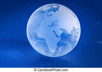 Little Blue planet - Little blue glass globe
