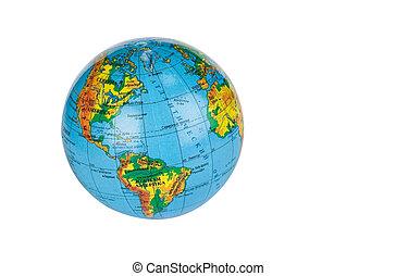 The globe - Little globe against white background