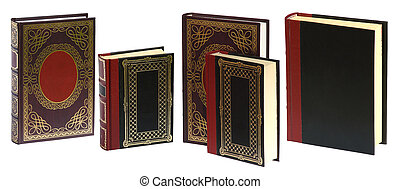 Standing books isolated on white background ready to use in...