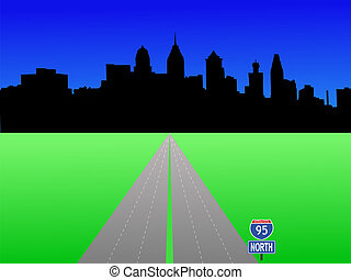 Philadelphia skyline - Philadelphia Pennsylvania skyline and...