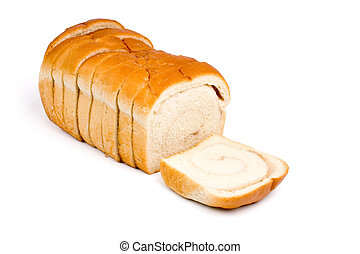 sweet Sliced Bread with white background