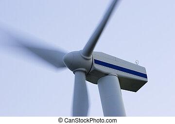 Wind turbine - Wind Energy turbine closeup