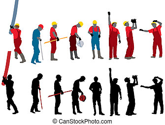 Construction workers - Team of Construction workers Vector...