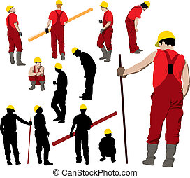 Construction workers team - Team of Construction workers in...