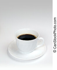 Coffee Cup - White Cup of Fresh Coffee