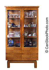 Antique cupboard (with clipping path) - Antique cupboard...