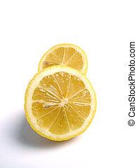 Lemon Halves - Couple of lemon halves on white background