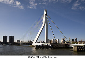 Suspension bridge 15 - Erasmus Bridge, Rotterdam, Holland