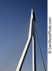 Suspension bridge 16 - Erasmus Bridge in Roterdam,Holland