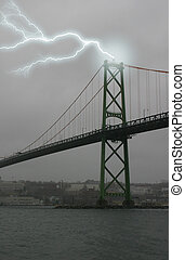 Lightning Bridge - Lightning strike, MacDonald suspension...