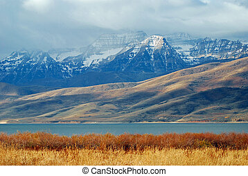 Timpanogos Mountain - Timpanogos mountain in the fall with...