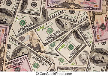 Dollars background - The background from dollars banknotes