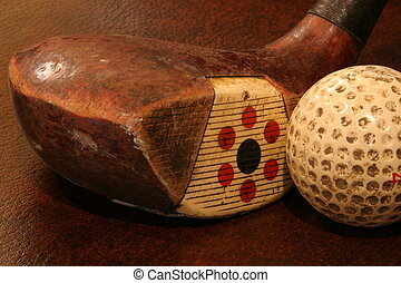 Antique golf club - Picture of an antique fancy face golf...