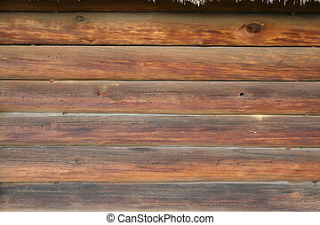 logged wall - background, texture