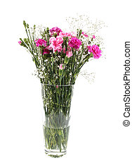 Vase of beautiful flowers - Vase of pink carnations in a...