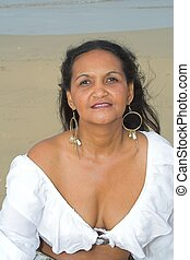 American Indian - An American Indian Woman at the beach