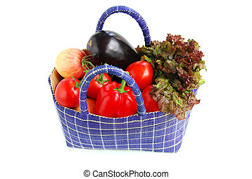 Vegetables - Fresh vegetables and fruits in a basket...
