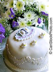 baptême, gâteau