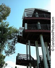 Bird Watching Tower - A 20m high bird watching tower in a...