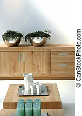 modern light in design - design with wooden furniture and...