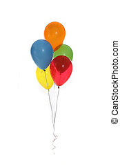 Beautiful Party Balloons - Party Baloons on White