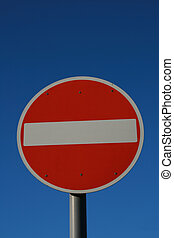 No Entry - International No Entry Traffic Sign