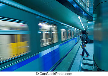 Moscow metro passengers - Passengers in Moscow subway