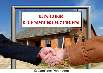 business deal, handshake on house sale - Handshake, business...