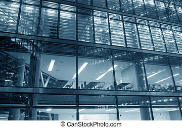 Modern office building - Hi-tech glass elevation of a modern...