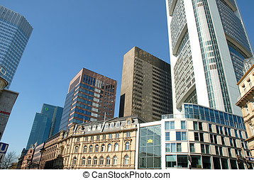 Modern and old architecture in Frankfurt - Germany