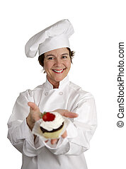 Perky Pastry Chef - A friendly happy looking pastry chef...