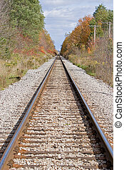 Railroad tracks running off into the distance