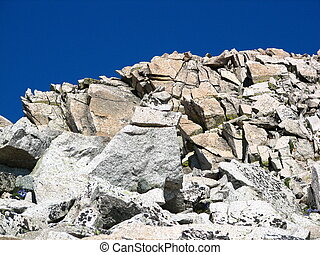 Edge of Mt. Princeton - This is looking up the edge of Mount...