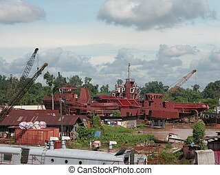 Shipbuilding is a robust industry in Sarawak, East Malaysia...