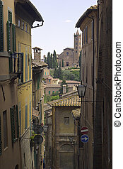 Siena - Narrow streets of the Italian cities